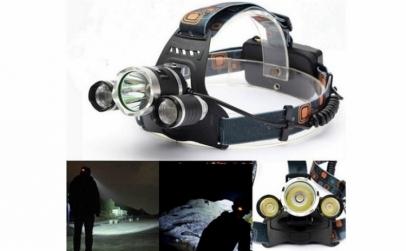 Lanterna frontala reglabila cu 3 LED uri