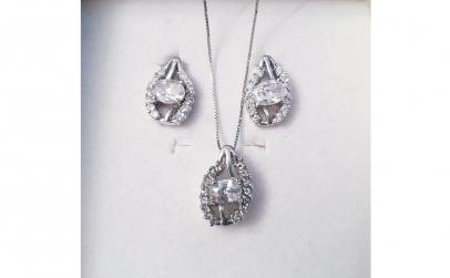 Set bijuterii argint cu zirconiu