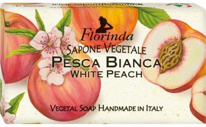 Sapun vegetal cu piersici albe, 100 g