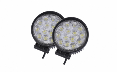 Set 2 proiectoare LED, rotunde, 42W