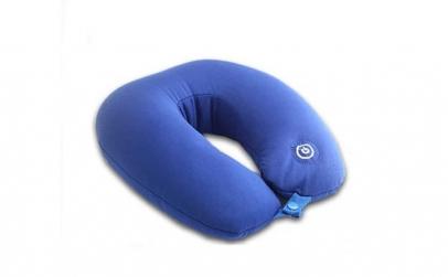 Perna pentru gat cu masaj, albastru,