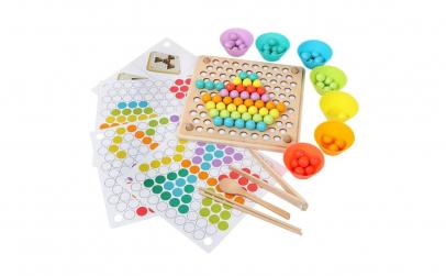 Joc Montessori indemanare cu bile