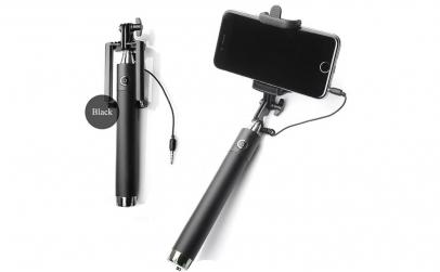 Monopod selfie stick mini cu cablu Jack