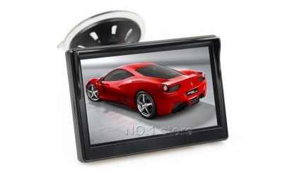 "Display auto LCD 4.3"" cu ventuza"