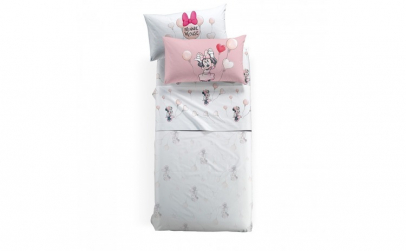Lenjerie pat Minnie Love  170x270 cm roz