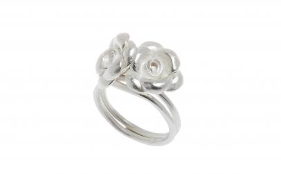 Inel din argint, model floral