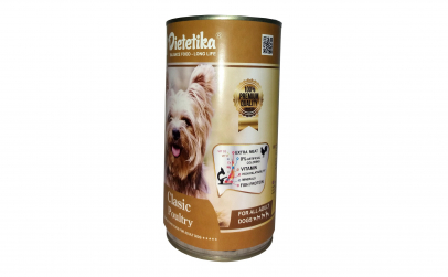 Conserva caini Dietetika cu Pui, 415 gr