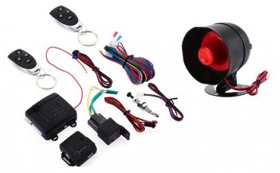 Sistem De Alarma Auto Cu 2 Telecomenzi