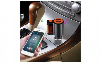 Car Kit Bluetooth, Modulator FM,Dual USB