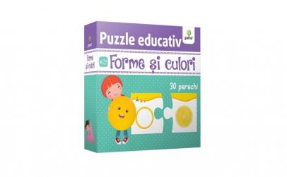 Puzzle educativ. Forme si culori