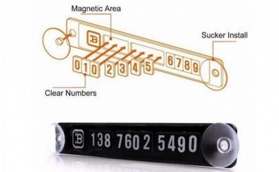 2 x Tablita magnetica pentru numar