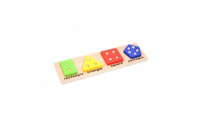 Jucarie creativa din lemn cu forme