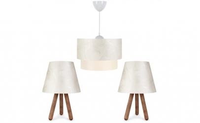 Set Lustra si 2 lampi ,modern, dormitor,