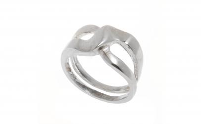 Inel din argint, model impletit