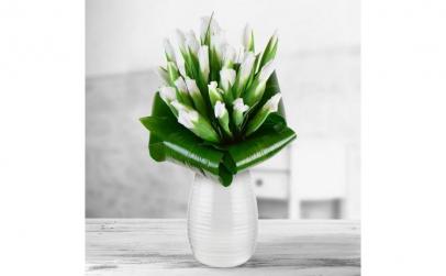 Buchet de 25 irisi albi