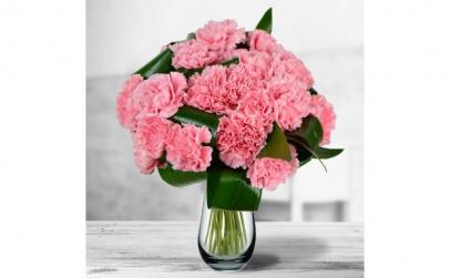 Buchet de 15 garoafe roz