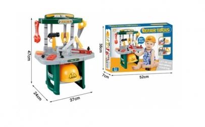 Banc de unelte copii+ accesorii + casca