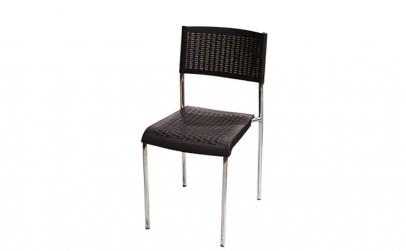 Scaun cu picioare cromate din