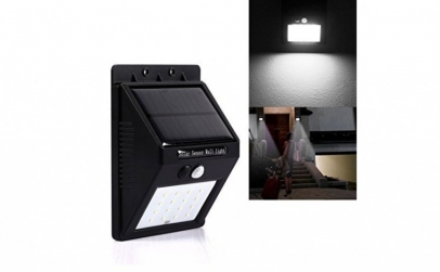 Bec 20 LED solar cu senzor de miscare