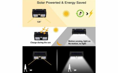 Lampa led dubla cu incarcare solara