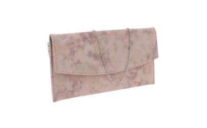 Plic de ocazie roz pudra din piele