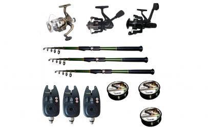 Set pescuit sportiv cu 3 lansete de 2,7