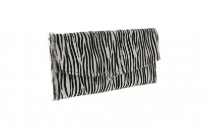 Plic de ocazie model zebra din piele