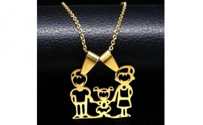 Colectie coliere Happy Family cu Au 18K
