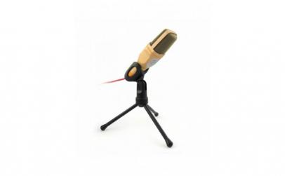 Microfon cu tripod, auriu, 3.5mm jack,