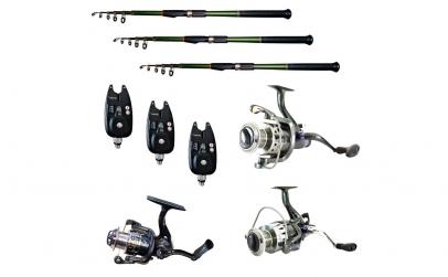 Pachet de pescuit cu 3 lansete 3m