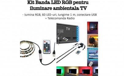 Kit Banda LED RGB USB TV Backlight