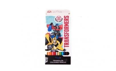 Set 12 creioane colorate Transformers