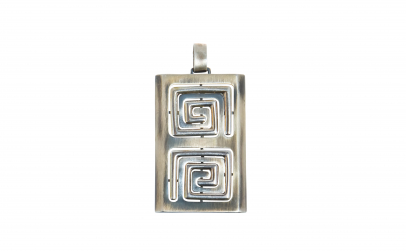Pandantiv argint, elemente geometrice