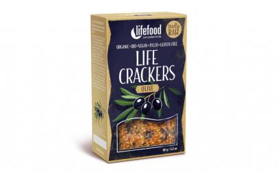 Lifecrackers raw cu masline bio 90g