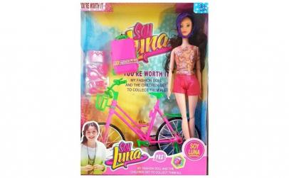 Papusa Soy luna cu bicicleta