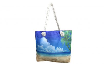 Geanta de plaja, peisaj acvatic, 35x45mm