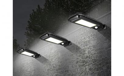 Lampa solara 60 LED, senzor de miscare