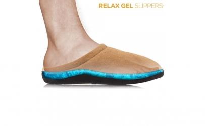 Papuci de casa cu gel,anti oboseala