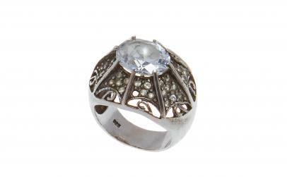Inel din argint 925, Turban