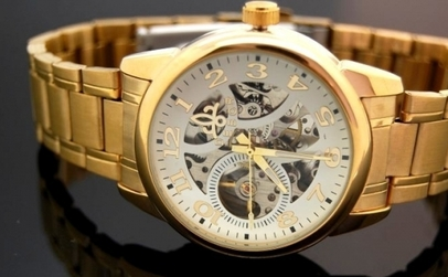 Ceas DEBOR SKELETON AUTOMATIC, model unisex, la 109 RON in loc de 219 RON