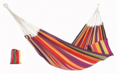 Hamac multicolor din bumbac cu husa de