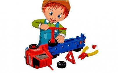 Jucarie camion cu scule pentru reparatii
