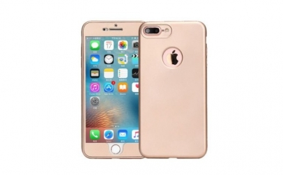 Husa 360 Silicon Iphone 6 / 6S Auriu