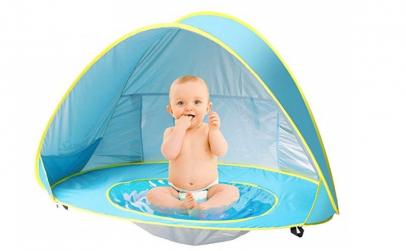 Cort plaja pentru copii cu mini piscina