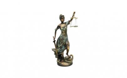 Statueta reprezentand justitia  20x54 cm