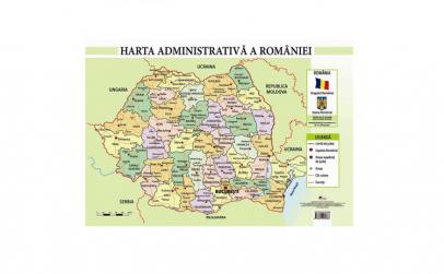 Harta Administrativa a Romaniei - Plansa