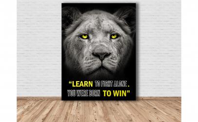 Tablou Canvas Lion 100x75 cm