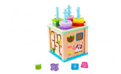 Cub Montessori 4 in 1 cu sortator