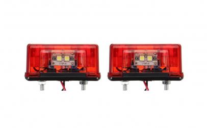 Set 2 lampi LED 12-24V