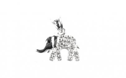 Pandantiv Elefant cu Pietre, Argint 925